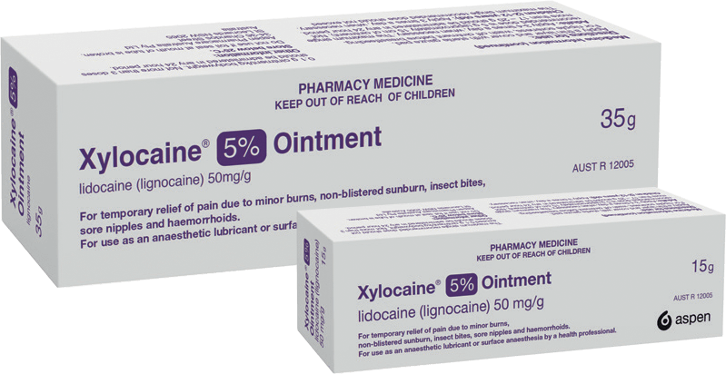 Packshot of Xylocaine 5% Ointment for Pain Relief